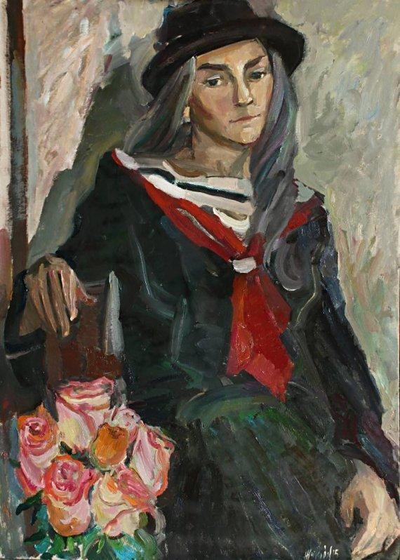 "lilithsplace: ""Girl with roses - Juliya Zhukova (b. 1980) oil on cardboard   source: """