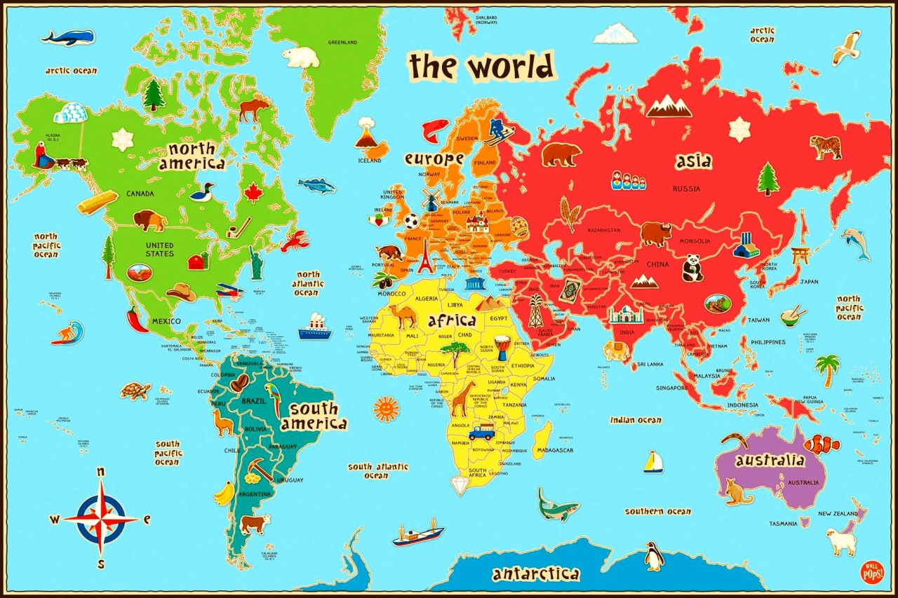 Interesting Maps Illustrated World Map