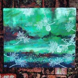 Spring is coming… Reminiscing over an old piece. 🐦🌿🌲#soldart..........#abstractart #illustration #artworks #artsy #paintings#whimsical #illustration #art #greenery #interiordesign #perthpop #perthstagram #colour#artistsofinstagram #perthcreatives #perthartist #perthisok #arty #perth
