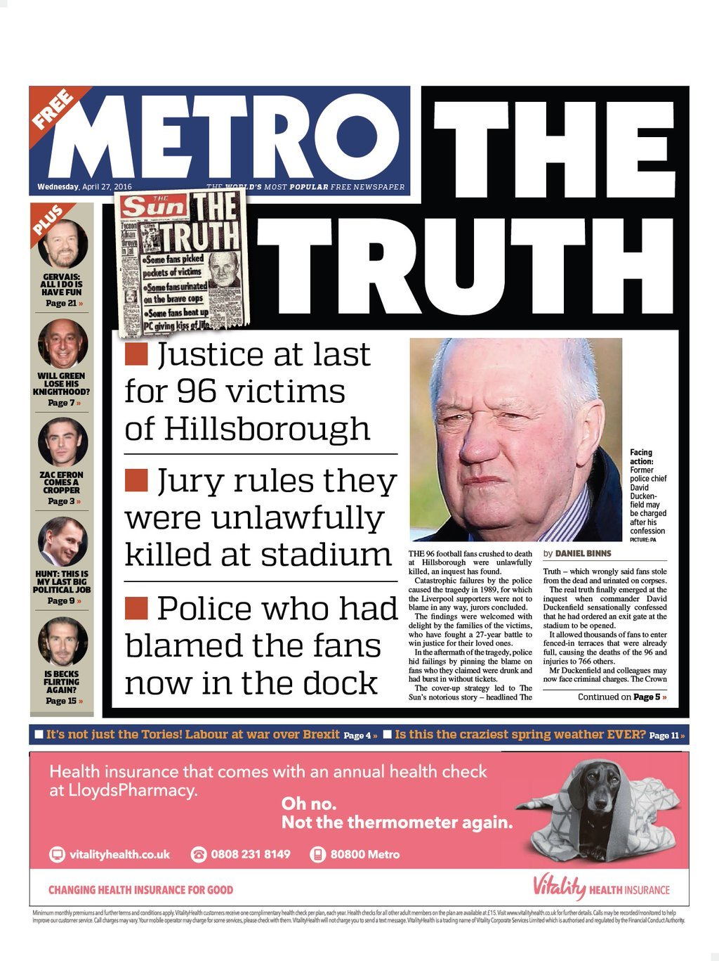 Image result for metro the truth