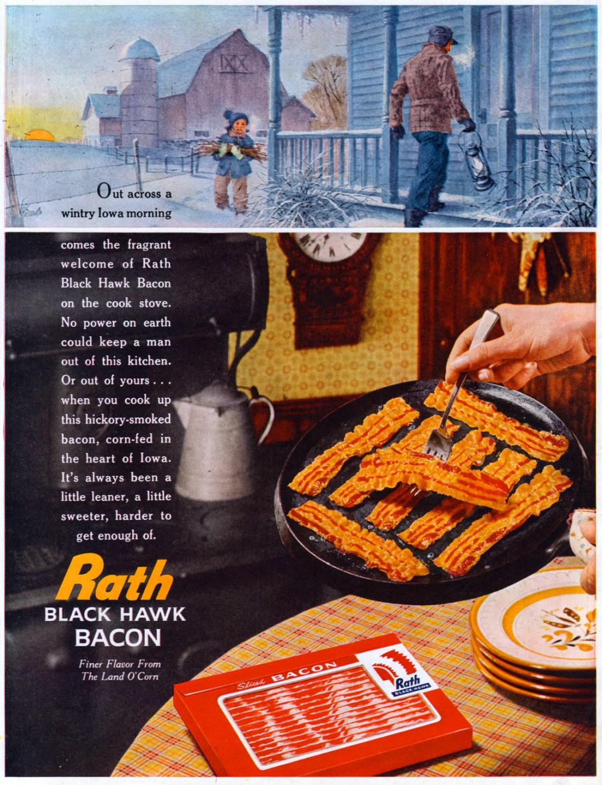 Rath Black Hawk Bacon - 1960