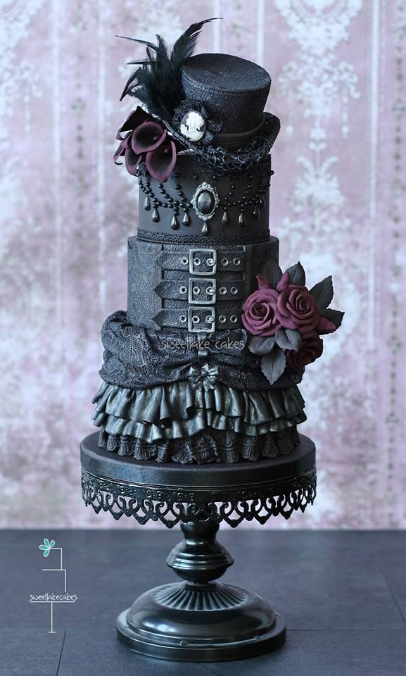 "misfitwedding: "" These Gothic cakes by Sweetlake Cakes are blowing our minds! See a load more here. """