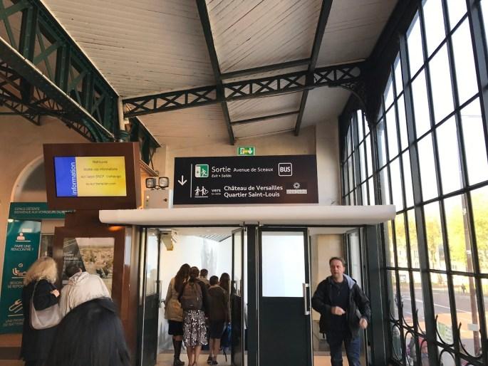 Versailles Chateau Rive Gauche station Exit