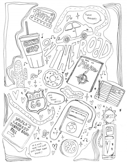 Popular Aesthetic Tumblr Coloring Pages Printable Image Desain