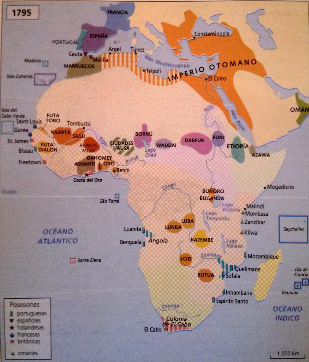 Political Map Of Africa Before The Scramble For