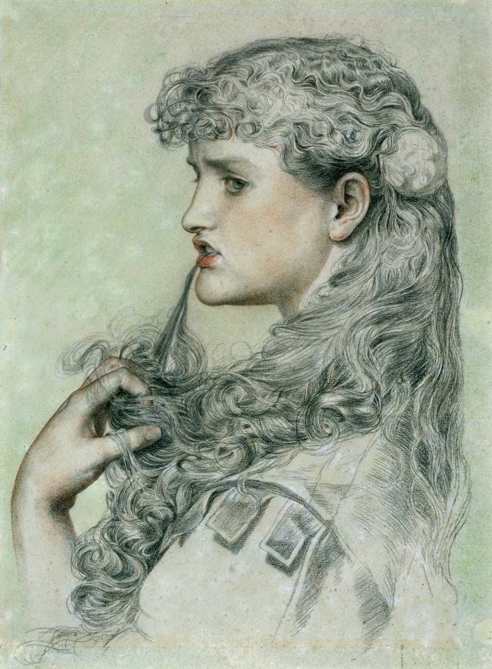 Frederick Sandys: Proud Maisie, 1868, pencil and crayon on paper, Victoria and Albert Museum, London