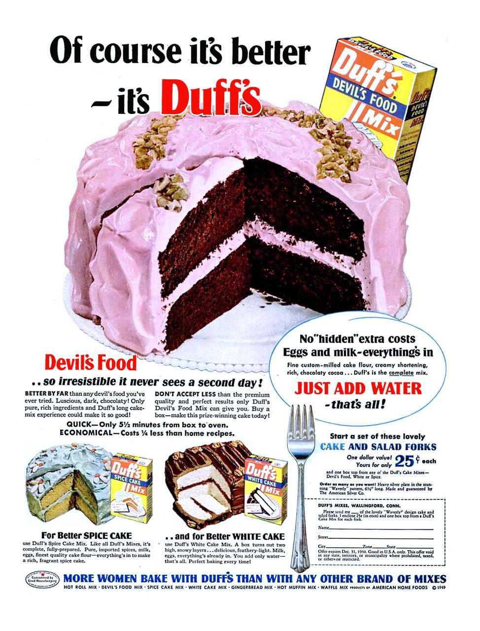 Duff's/American Home Foods - 1950