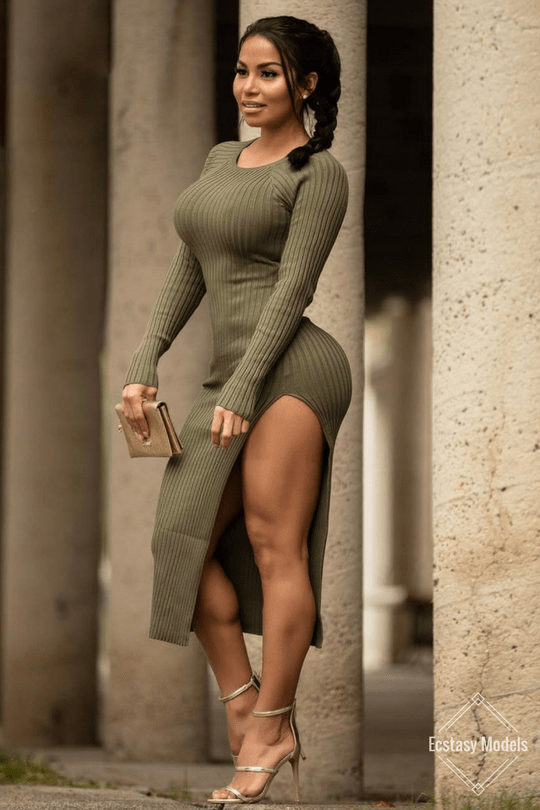 "ecstasymodels: ""Olive Dress: @SexyDresses Photo: @michaeloliveri Fashion Look by missdollycastro """