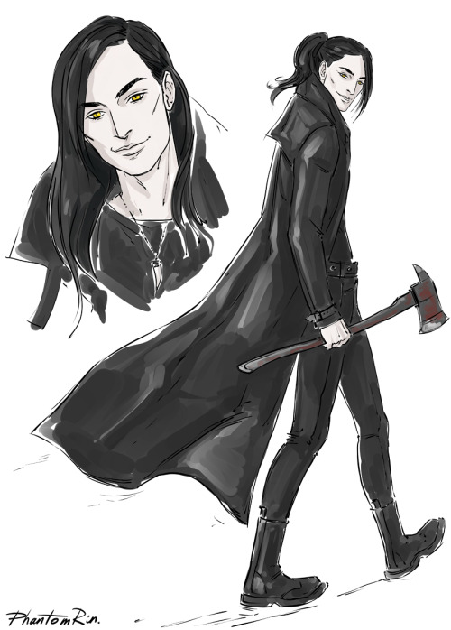 """Jackal (""""Blood of eden"""" by @Jkagawa )He's such a charmer that I cannot not like him lol:)"""