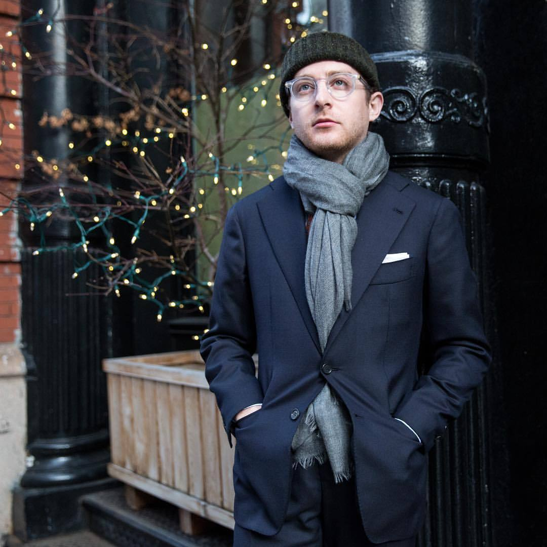 It's finally that time of year when scarves are hats are essential. Glad we have our #drakes knit hats and cashmere scarves! (at The Armoury New York)