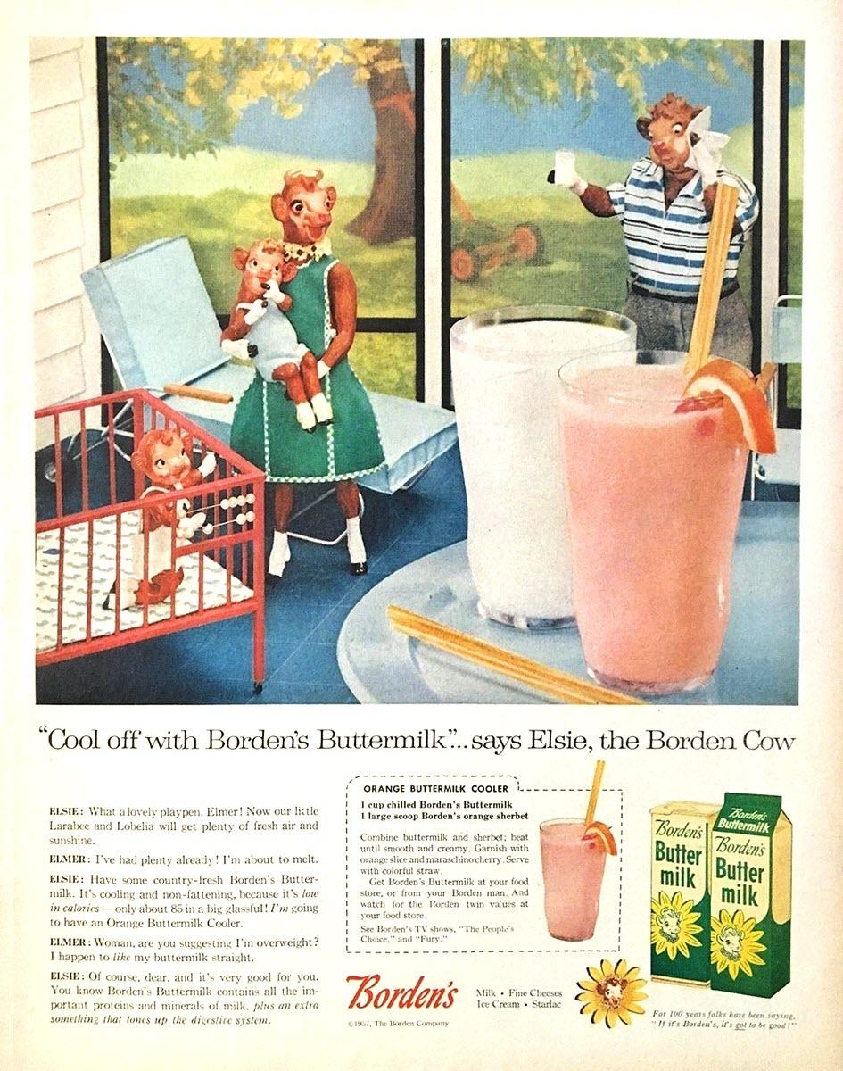 Borden's Buttermilk - 1957