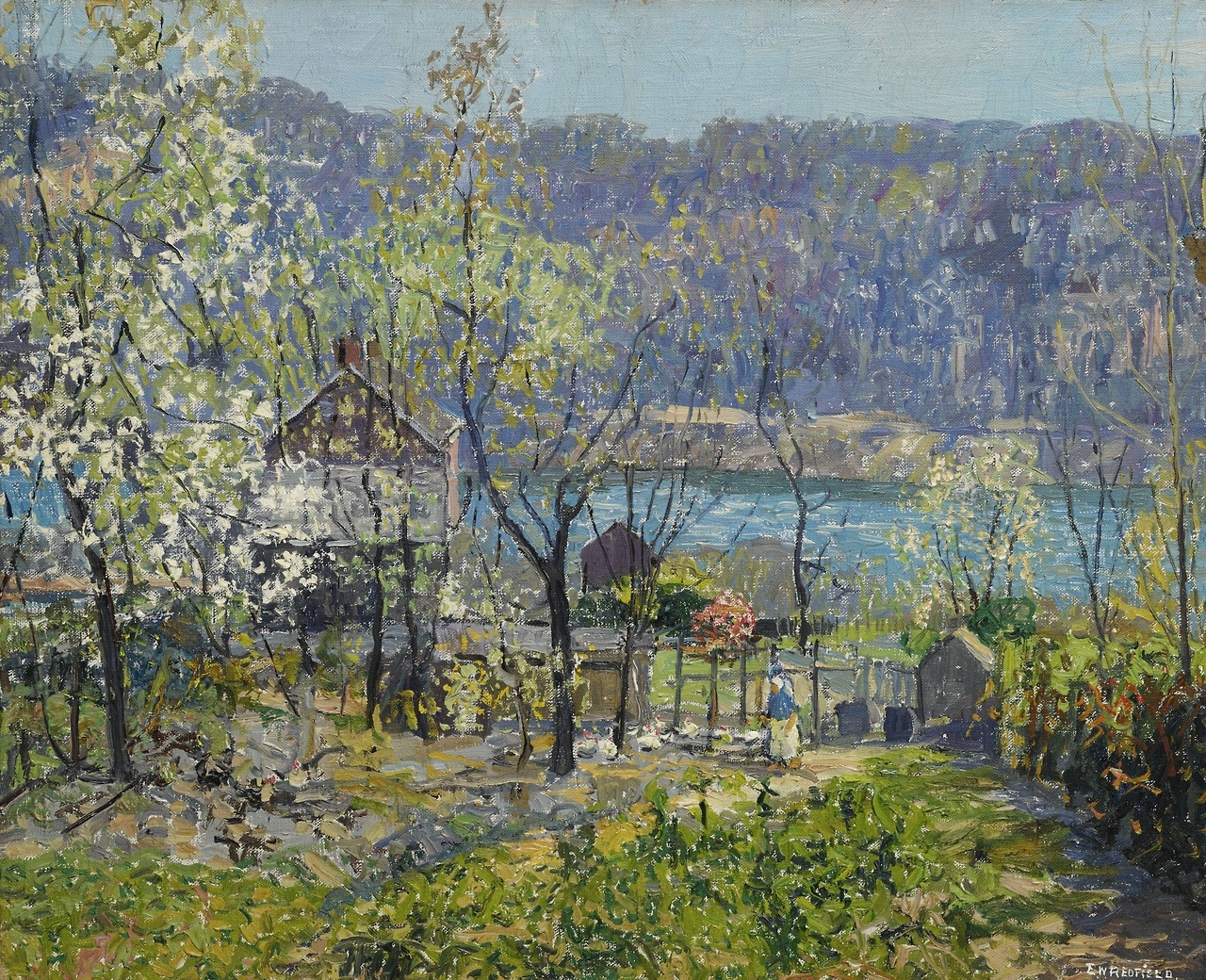 """thunderstruck9: """"Edward Willis Redfield (American, 1869-1965), Spring at Point Pleasant, 1934. Oil on canvas, 26 x 32 in. """""""