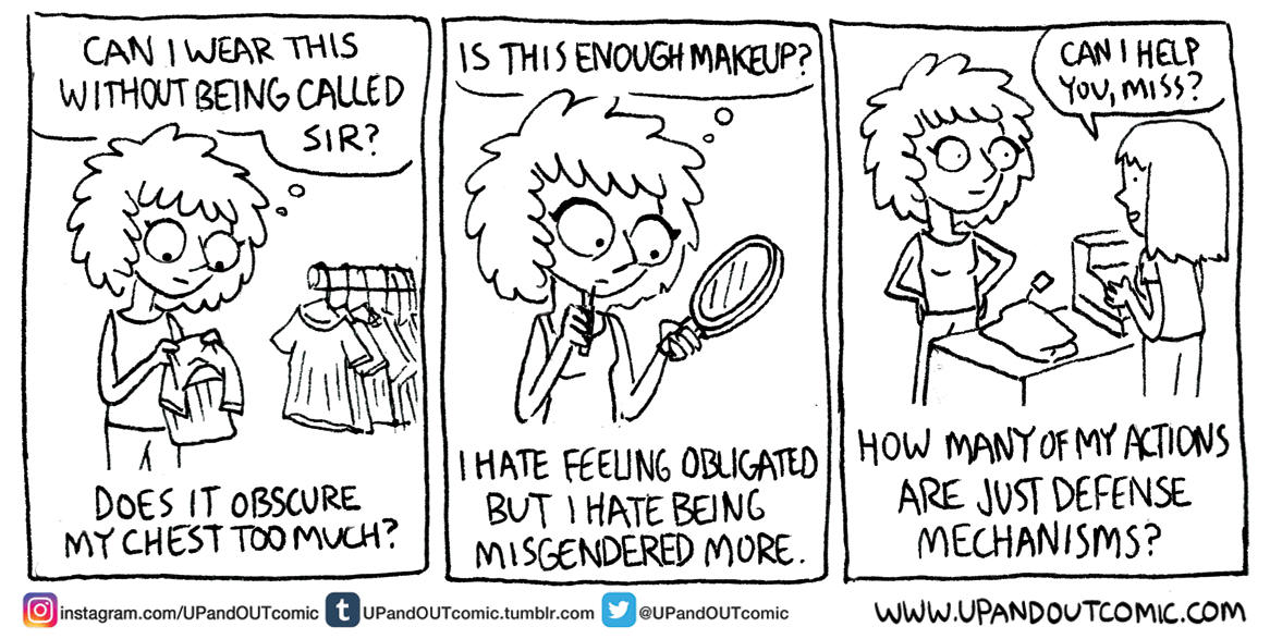 PLEASE READ: THIS IS IMPORTANT TO UNDERSTANDING THIS COMIC: this is part of a serious autobio series I started months back to document my gender transition. These took place months ago. August 18th, 2016. Dissecting my general worries while still...