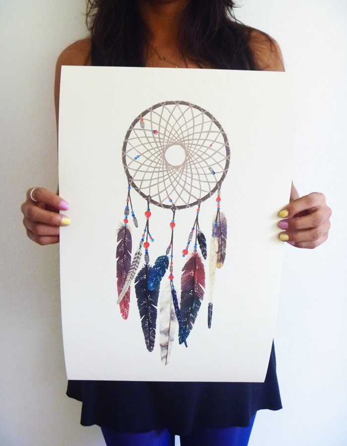 etsyfindoftheday 4 | 9.9.14 'the woven web of life' dreamcatcher 11x14 art print by anavicky i just HAD to show off one more art print from anavicky – i know my friend brit would really dig this earthy-celestial dreamcatcher!