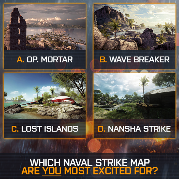 Naval Strike Maps All four new Battlefield 4 Naval Strike maps have been revealed