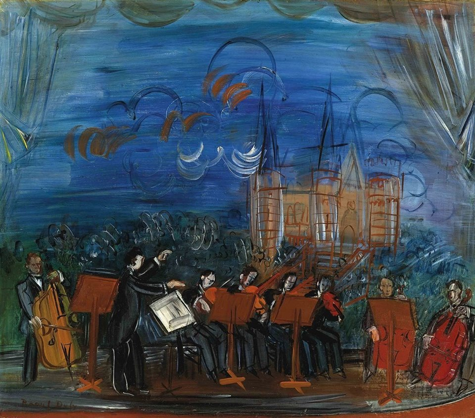 Raoul Dufy (1877-1953) Orchestre bleu, 1945