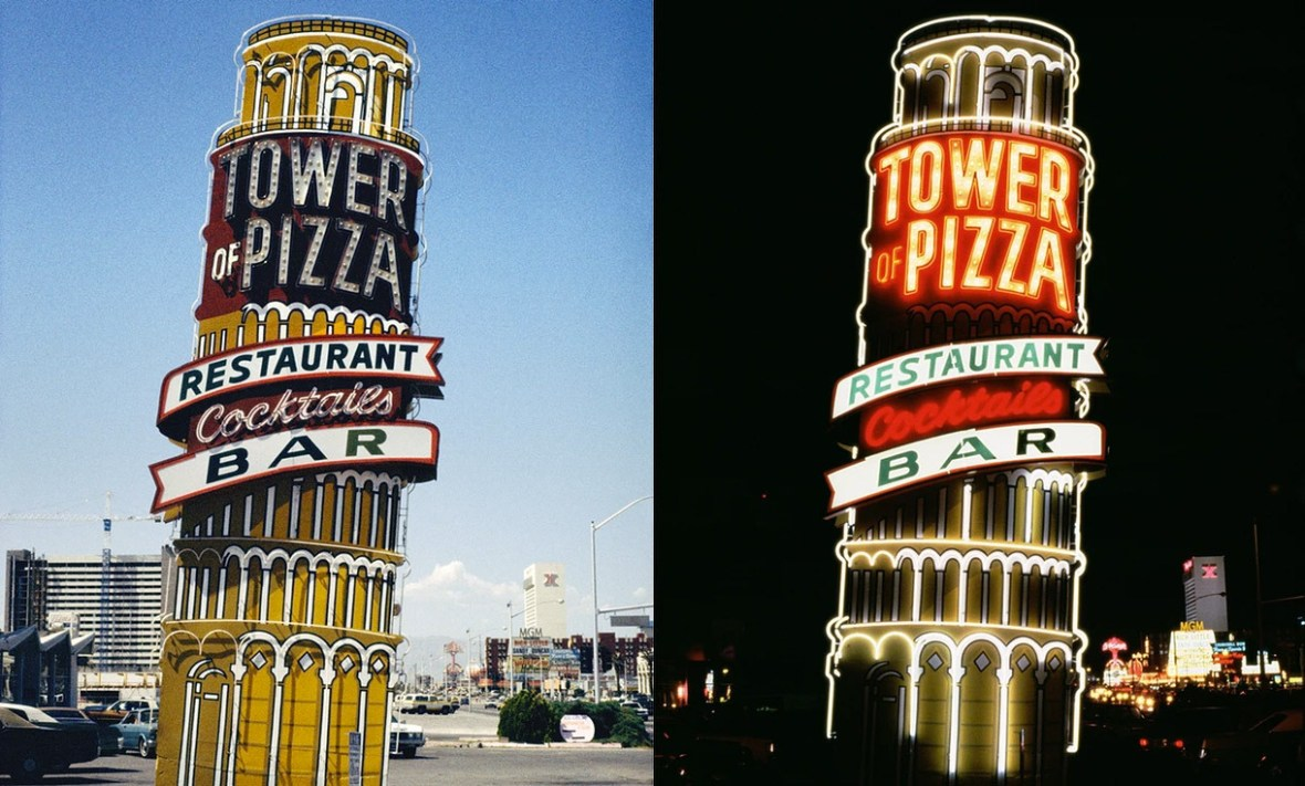 Tower of Pizza - Las Vegas, Nevada U.S.A. - 1979