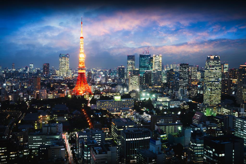 "Tokyo Tower""Tokyo city skyline at dusk, Tokyo… – Skylines"