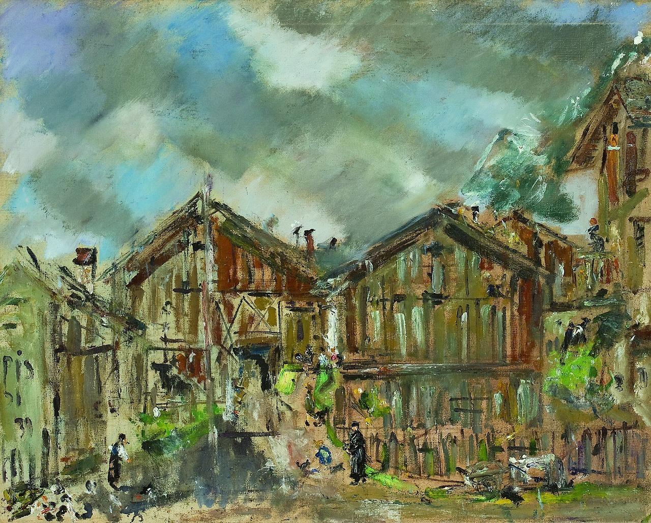 """huariqueje:"""" Rural Landscape in Cortina - Filippo De Pisis , 1931Italian , 1896-1956oil on canvas, 50 x 71 cm."""""""