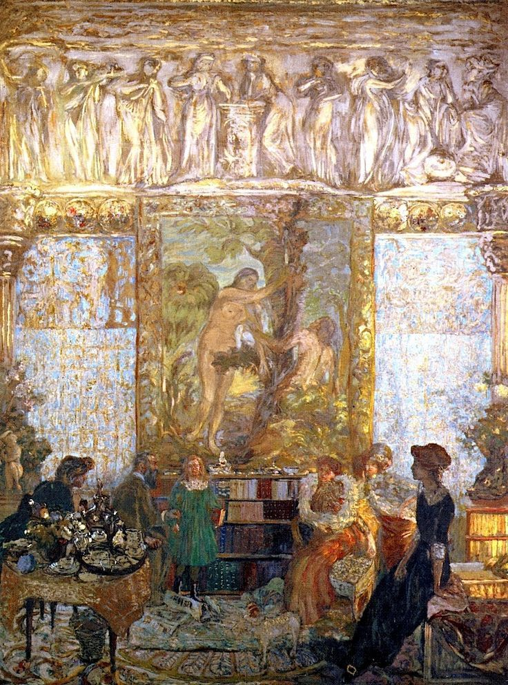 """huariqueje:""""  The Library - Edouard Vuillard 1910-11French 1868-1940"""""""