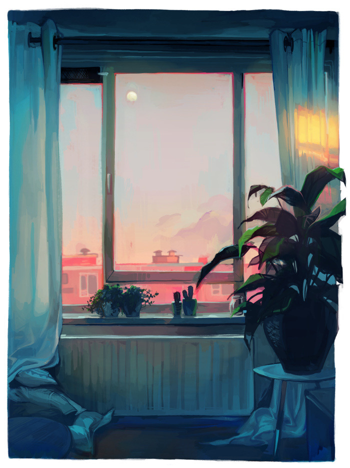 "1000drawings: "" sunset by Loish """