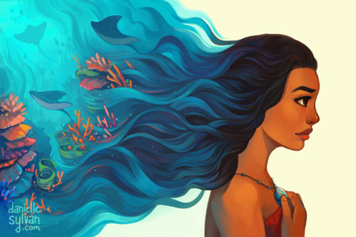 """""""I will carry you here in my heart to remind me, that come what may…I know the way."""" I will have Moana prints available at Anime Boston!"""