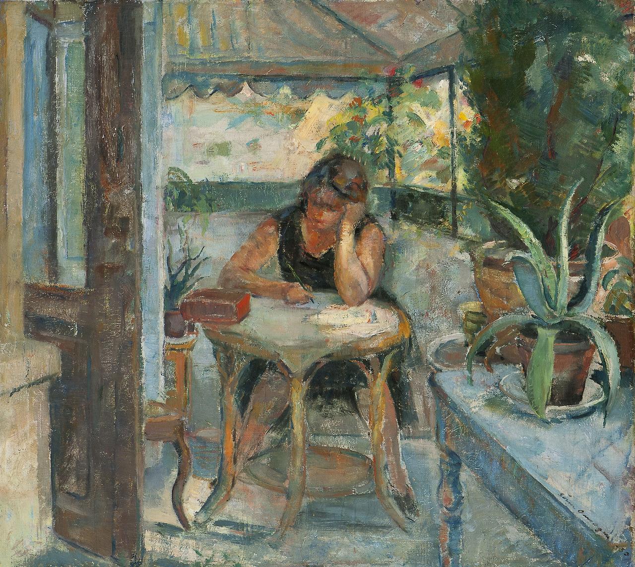 """huariqueje: """" Female in Interior - Søren Onsager 1930 Norwegian, 1878-1946 Oil on canvas """""""