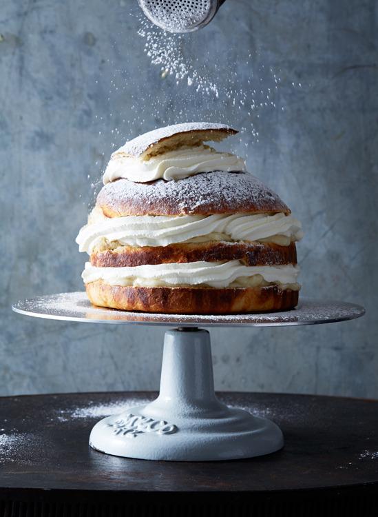 sweetoothgirl:Swedish Semla Layer Cake