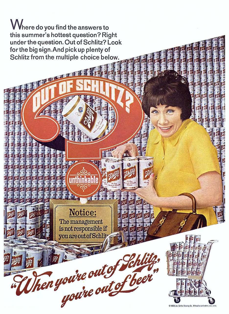 Joseph Schlitz Brewing Company - 1968
