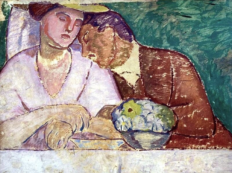 "terminusantequem: ""Béla Iványi-Grünwald (Hungarian, 1867-1940), Lovers, c.1909. Oil on canvas """