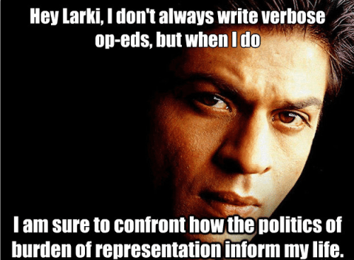 ahem, http://www.ndtv.com/article/india/read-shah-rukh-khan-s-article-which-appeared-in-outlook-turning-points-2013-323900