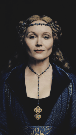 Essie Davis in costume as Elizabeth Woodville from The White Princess
