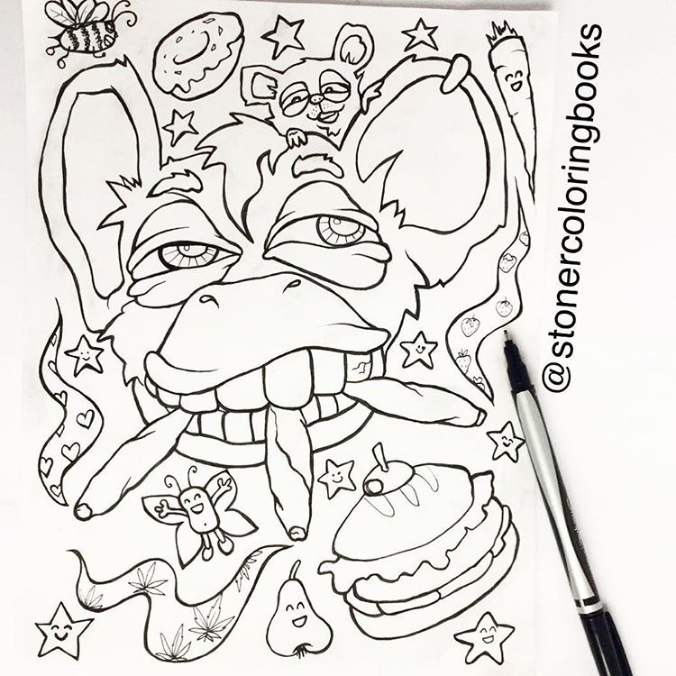 stoner coloring books — did you hear the good news