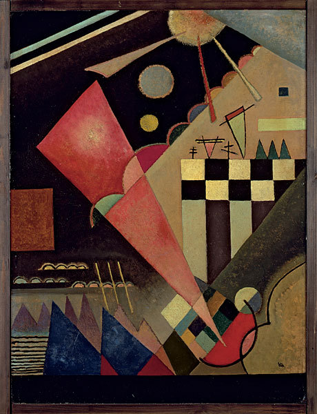 Wassily Kandinsky, Scharfruhiges Rosa, 1924, Oil on cardboard. Museum Ludwig, Cologne.