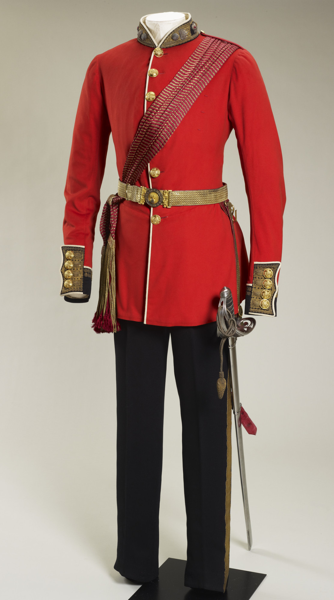 Prince Albert's Grenadier Guards uniform, worn between 1852 and 1861. The Prince Consort would have worn this uniform when reviewing Crimea Troops. Royal Collection