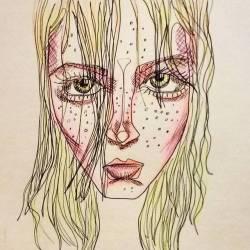 Hello spotty. #art #doodle #drawing #doodlesofinstagram #linedrawing #inkdrawing #perthartist #perthcreatives #portrait