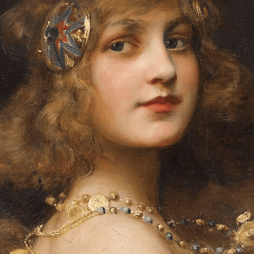 Bouguereau Counted Cross Stitch Pattern The Shell by Pre Raphaelite Wm A