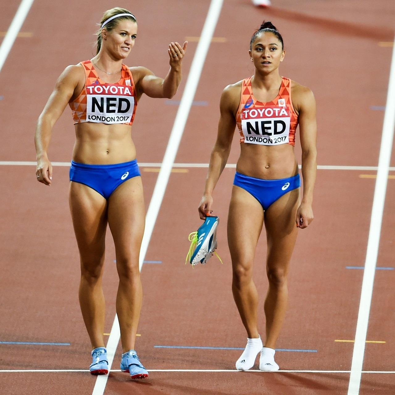 Dafne Schippers and Naomi Sedney 2017 World Championships
