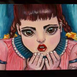 """""""Spoiled"""" A cute piece that'll will be in the upcoming RAW Perth event on 2 Feb! #art #perthcreatives #perthartist #illustration #artworks #artsy #paintings #whimsical #folkart #spoiled #artworks #newart #rawperth #rosemounthotel"""