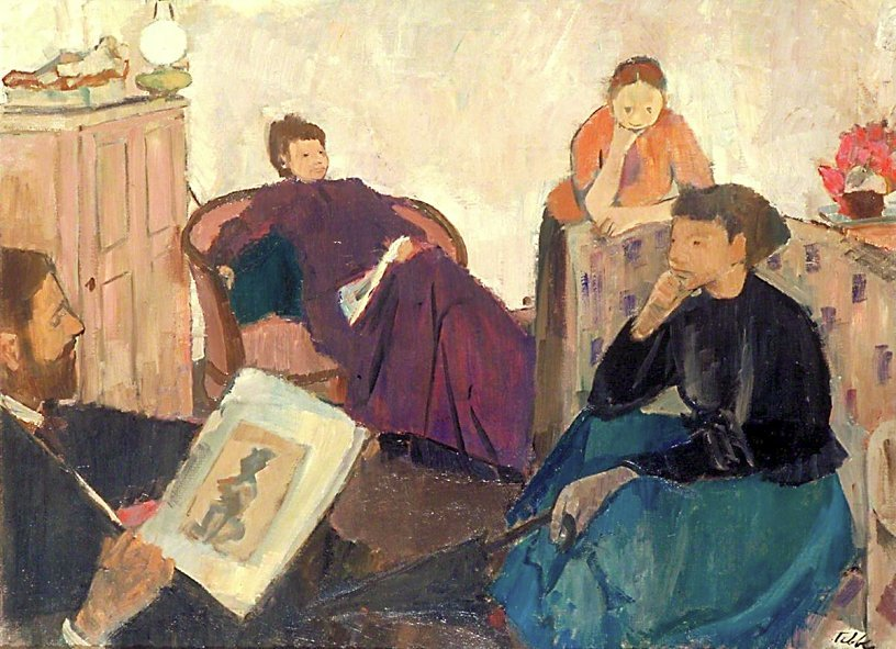 """lilithsplace: """"The Discussion, 1948 - Geoffrey Tibble (1909–1952) """""""