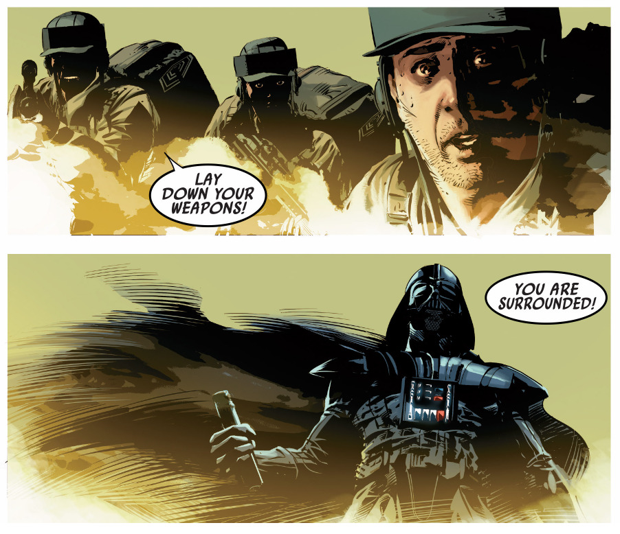 Image result for darth vader comic i am surrounded by dead men
