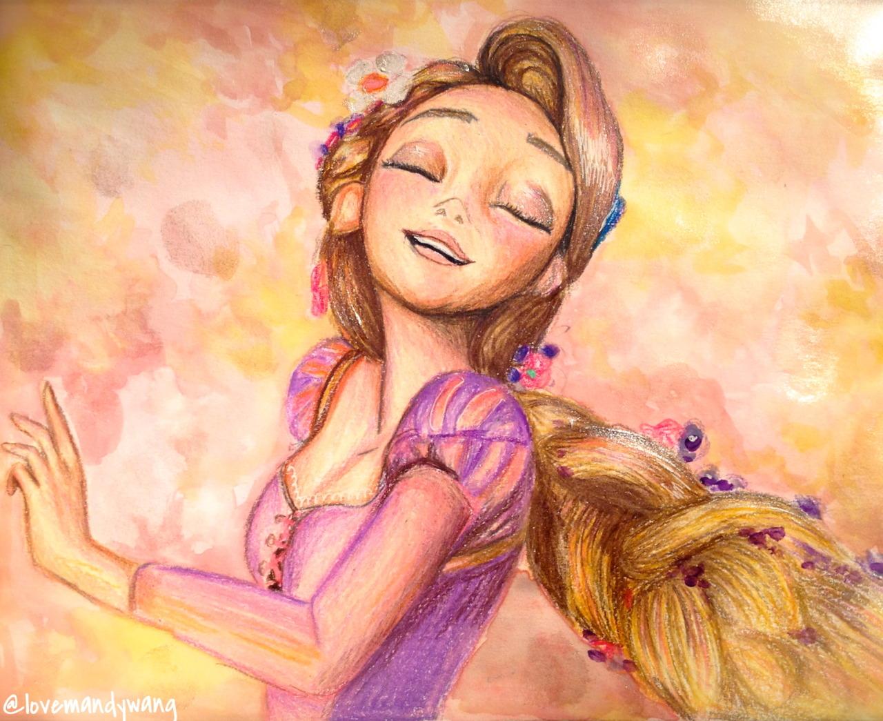 Flynn And Rapunzel Drawing Tumblr