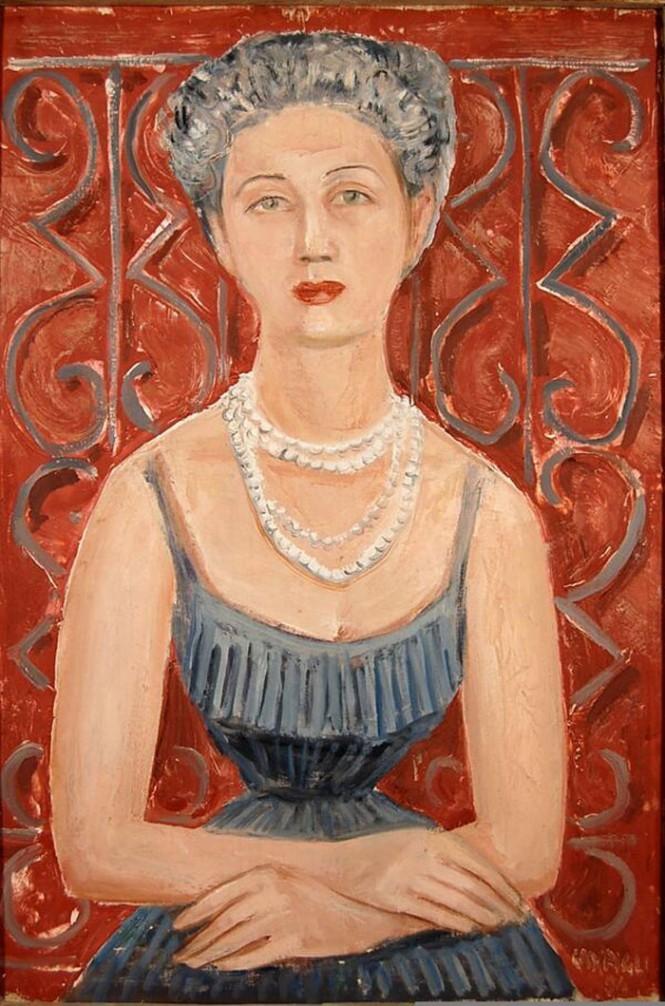 """huariqueje: """" Portrait of Irene Brin - Massimo Campigli , 1954 Italian 1895-1971 Oil on canvas """""""