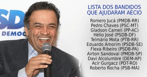 Romero Jucá (PMDB-RR) Pedro Chaves (PSC-MT) Gladson Cameli  (PP-AC) Hélio José (PSDB-DF) Telmário Mota (PTB-RR) Eduardo Amorim  (PSDB-SE) Flexa Ribeiro (PSDB-PA) Airton Sandoval (PMDB-SP) Davi Alcolumbre (DEM-AP) Acir Gurgacz (PDT-RO) Roberto Rocha (PSB-MA)