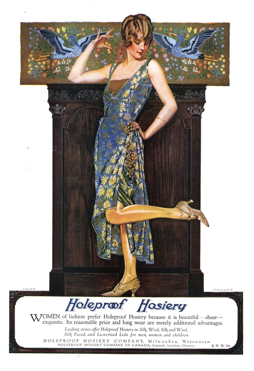 Holeproof Hosiery - published in The Literary Digest - April 7, 1923