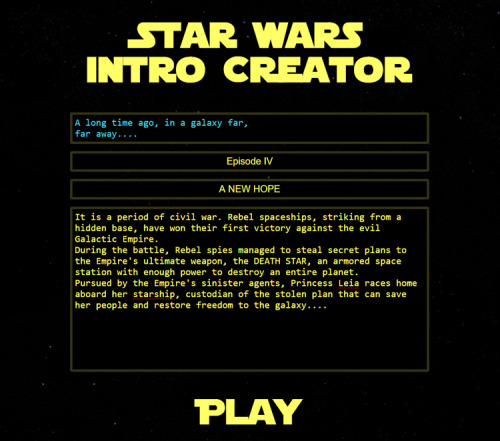 Star Wars Intro Creator, A Website That Lets You Write Your Own Star Wars Style Opening Crawl