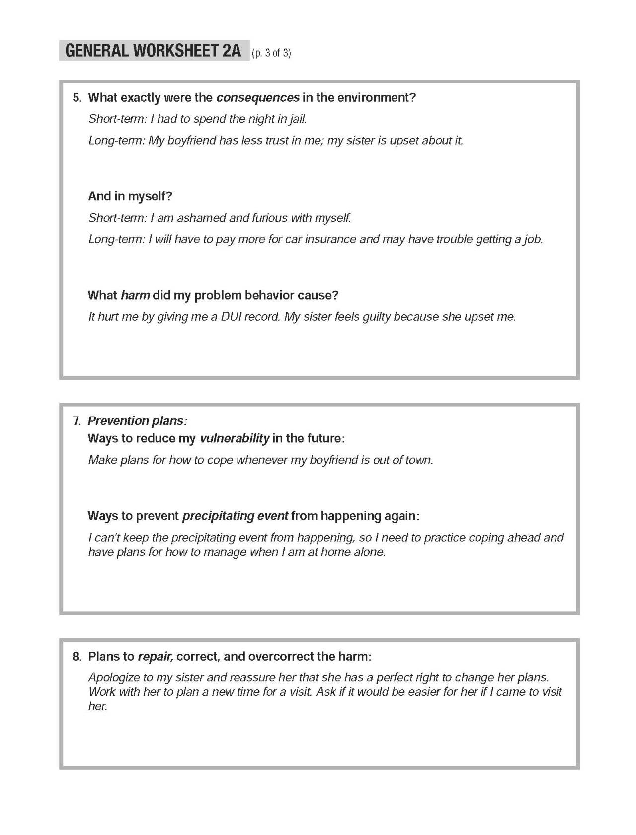 Healing Schemas Worksheet