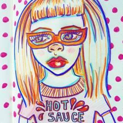 Hot sauce! #doodles #sketch #portrait #sketching #artsy #art #perthcreatives #perthartist #illustration_ink #inkdrawing #inkpen #journal #pencildrawing