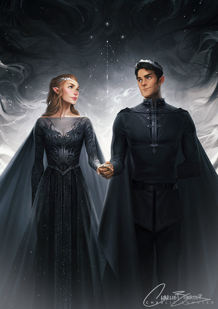 MY BABIES ARE DONE. *dies*Rhys & Feyre, looking all High Lord & Ladylike. This was soooo much fun to work on and I've already ranted and raved about how much I love these two… and everyone else in ACOMAF… and Sarah… and Prints are available over on...