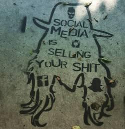 Truth on a downtown LA pathway #streetart #socialmedia #art #graffiti #whoops #losangeles #word #MrBig (at Los Angeles, California)